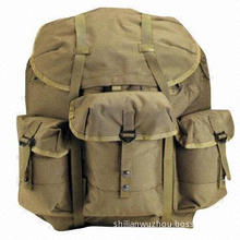 45L waterproof outdoor use army and military backpack in khaki color