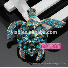 lovely fashion crystal tortoise animal brooch