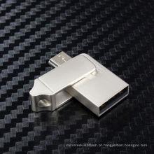 Movimentação do flash do metal OTG USB para presentes relativos à promoção