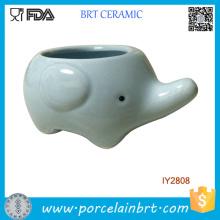 Vaso de flores de elefante bonito mini plantador de cerâmica