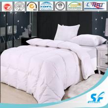 Linge de lit blanc ordinaire en gros (SFM-15-054)