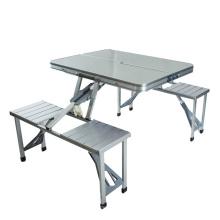 Espaço de poupança de acampamento moderno mesa de aço quadro de mesa dobrável ao ar livre e cadeira
