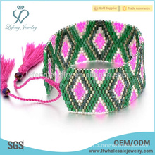 Braceletes ajustáveis handmade wrap, Bohemia wrap pulseiras diy