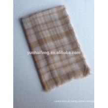 Xaile quadrado de lã solúvel em água, muito macio