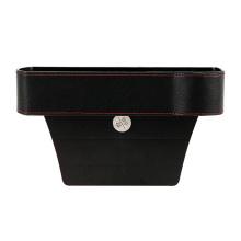wholesale multifunctional high quality PU leather car side gap storage box car seat gap filler organizer