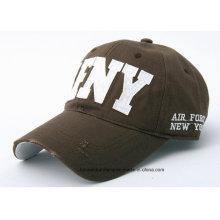OEM Produce lavable algodón ajustable de sarga de algodón promocional bordado hip-hop gorra de béisbol
