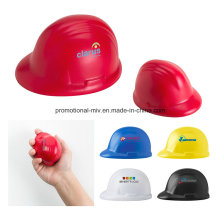 Promotional Safety Helmet-Shaped PU Stress Ball