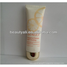 plastic squeeze flat BB cream tube with plated cap
