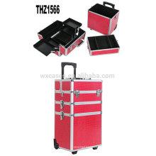 Günstige professionelle kosmetische Trolley Fällen Aluminium mit verschiedenen Farbvarianten aus China Foshan