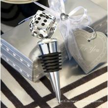Crystal Dice Weinflaschenverschluss - Geschenkverpackung