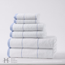 100% cotton 6 pack high quality towel set