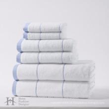 100% algodão 6 pack conjunto de toalha de alta qualidade
