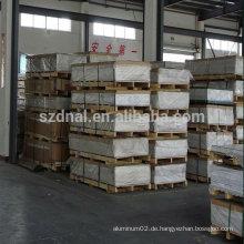 China Lieferant von Aluminium Platte Preis pro kg