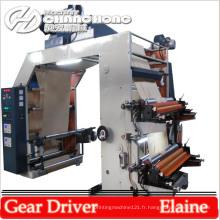 Machine d'impression flexographique de papier kraft à quatre couleurs pour presse à lettres