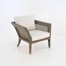 Cadeira de braço exterior mobiliário de jardim vime pátio conjunto Rattan