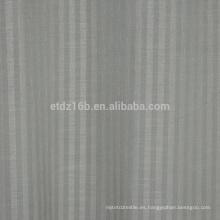 2016 nuevas rayas verticales de la llegada el lino 100% del poliester tiene gusto de la tela de la cortina del telar jacquar