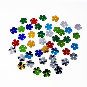 Flower-shaped assorted color sequin