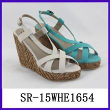 Mode Damen fancy Sandale Marken-Damen Sandalen neuesten Damen Sandalen Designs