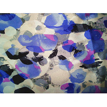 Impressão organza tecido de cetim de seda