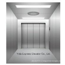 Линейный грузовой лифт из нержавеющей стали