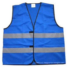CE En471 Blue High Visibility Reflective Security Safety Vest (YKY2805)