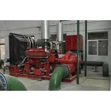 Pompe de lutte contre l'incendie à double aspiration avec moteur diesel
