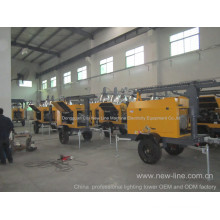 China Portable Light Tower Professional Factory (7-18kw)