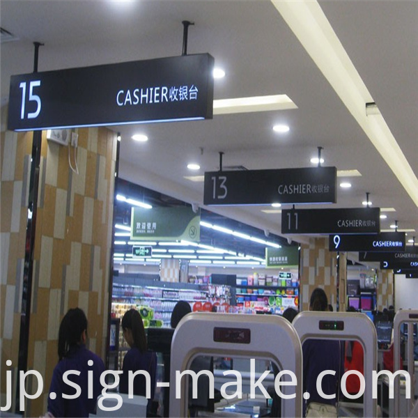 Hanging Light Box Cashier Sign