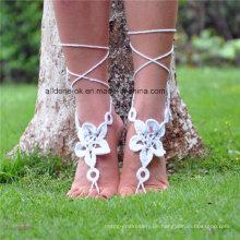 Zarte Knöchel Armband Häkeln Barfuß Sandalen Fuß Schmuck