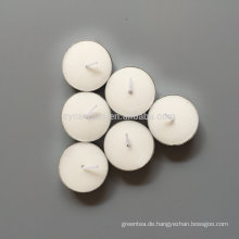 100 Stück billige weiße Teelichtkerzen in Plastiktüte