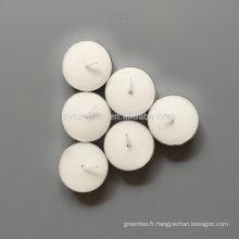 100pcs bougies chauffe-plat blanches bon marché dans un sac en plastique