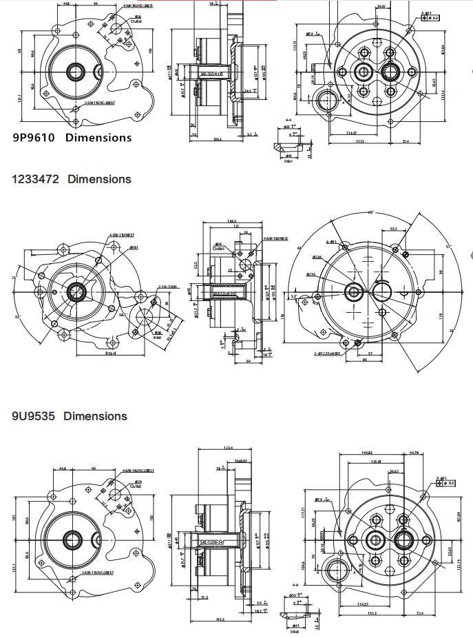 Cat pumps Dimensions-5