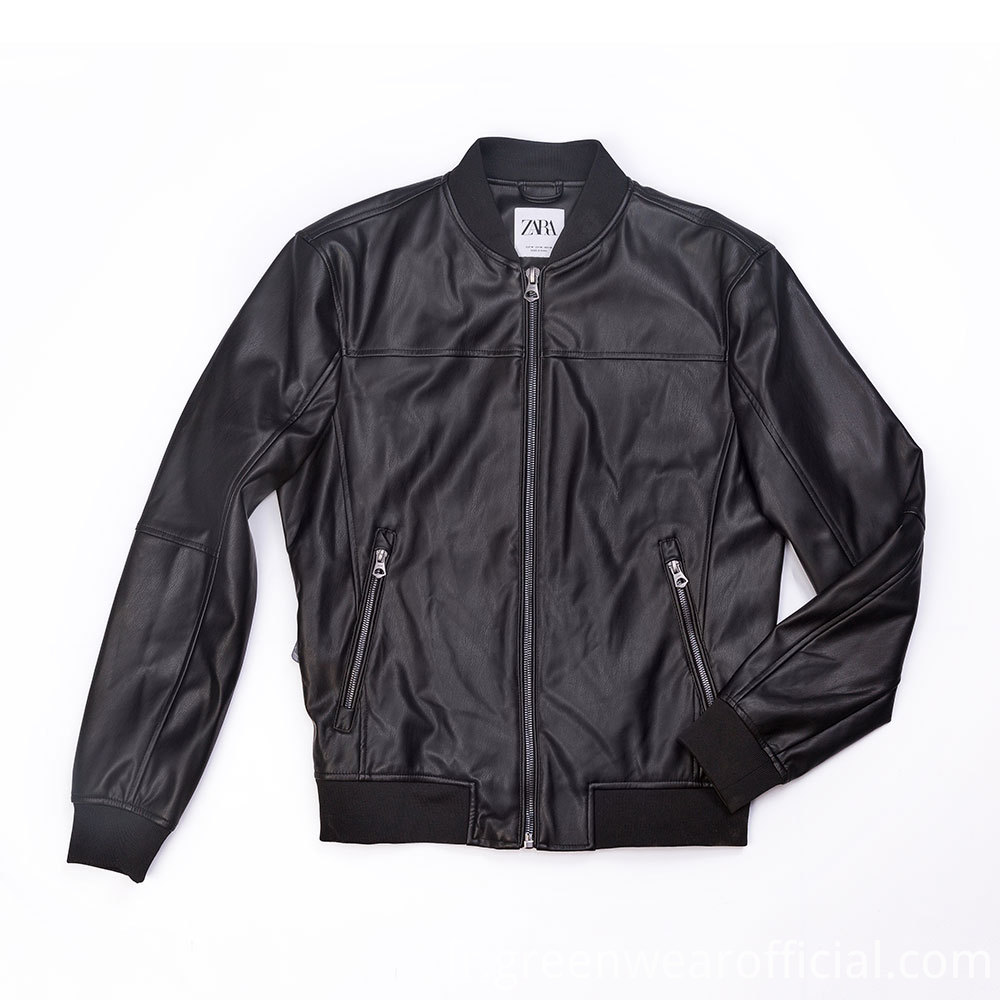 pu biker jacket mens