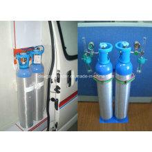 Cilindro de alumínio médico portátil do oxigênio 2L