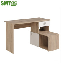 Natural wood color white computer desk/table factory price
