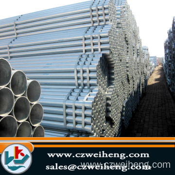 Supply for China Weld Steel Pipe, ERW Black Steel Pipe, Hot Dipped Galvanized Steel Pipe. Hot sale galvanized Erw Steel pipe supply to Chile Exporter
