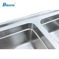 Countertop-Handelsbadezimmer Topmount Drainboard-Edelstahl-Küchenwaschbecken mit Abtropffläche