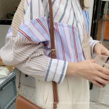 Модная молодежная повседневная блузка в полоску с темпераментом