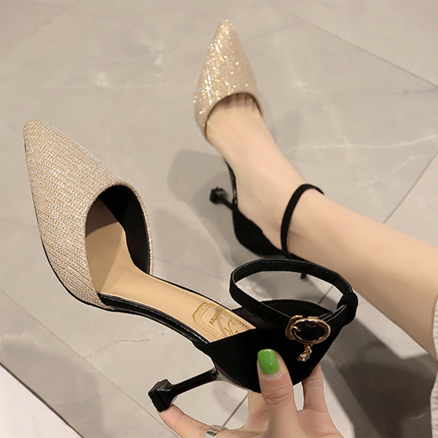 Pointed Toe Stiletto Heel Sandals