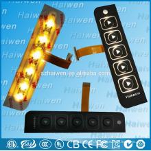 Clavier à membrane à rétroéclairage LED avec adhésif 3M468