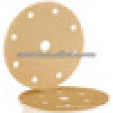 Disco de cambio rápido con papel de lija