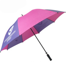 White and purple multi color golf big size african colors outdoor parts umbrella