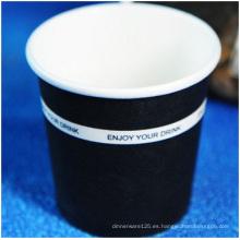 Taza de papel desechable personalizada, impresión de logotipos