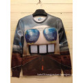 Fashion Cute Robot with Glasses Printing Clothes