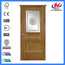 *JHK-FD04 Fiber Glass Door Fiberglass Wood Grain Door Cheap Fiberglass Doors