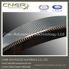 Las piezas de alta calidad de la fibra de carbono para requisitos particulares, piezas de Fibe del carbono de la armadura de tela cruzada 3K