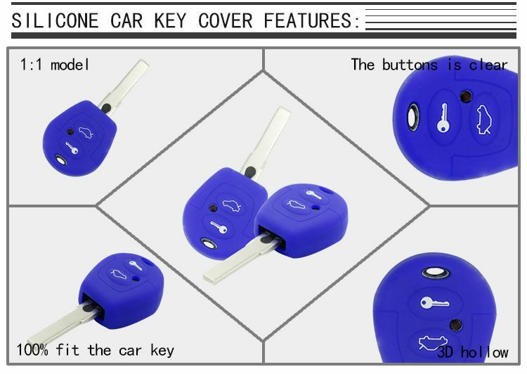 kia silicone car key case