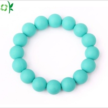 Custom Silicone Bead Bracelet/ Bead Wristband for Gift