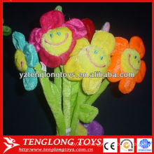 Красочный подсолнух для Валентина плюшевый плюшевый цветок с улыбкой