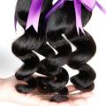 HE005 Cheveux Virtuels Péruviens Chemins Corporels 3 Bundles Cheveux Humains Weave 7a Grainte Sans Traitement Cheveux Virtuels Formes de Forêts Péruviennes